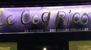 The art of chicken chez Coq Rico