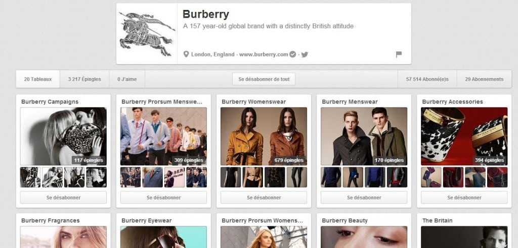 burberry pinterest